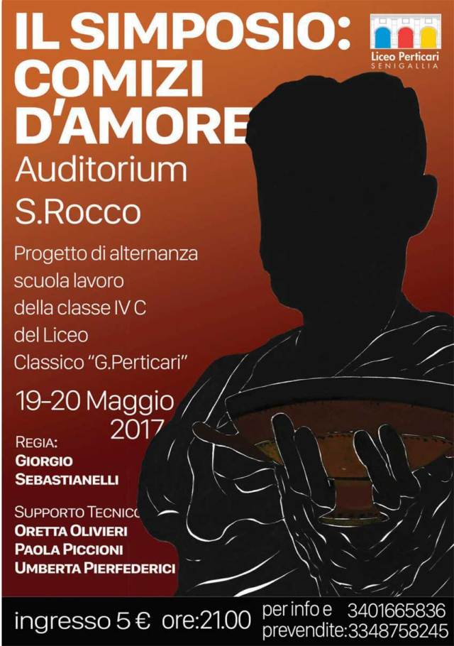"""SENIGALLIA / A San Rocco gli studenti del Perticari mettono in scena lo spettacolo """"Il simposio: comizi d'amore"""""""