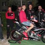 Il senigalliese Simone Saltarelli in corsa per il campionato Civ Superbike con la Kawasaki del Team Cm racing