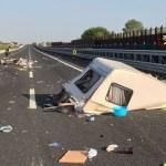 Quattro persone contuse sull'autostrada, in un pauroso incidente, tra i caselli di Senigallia e Marotta