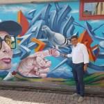 FANO / Sant'Orso si colora con il murale dell'artista italo-americano Smog One