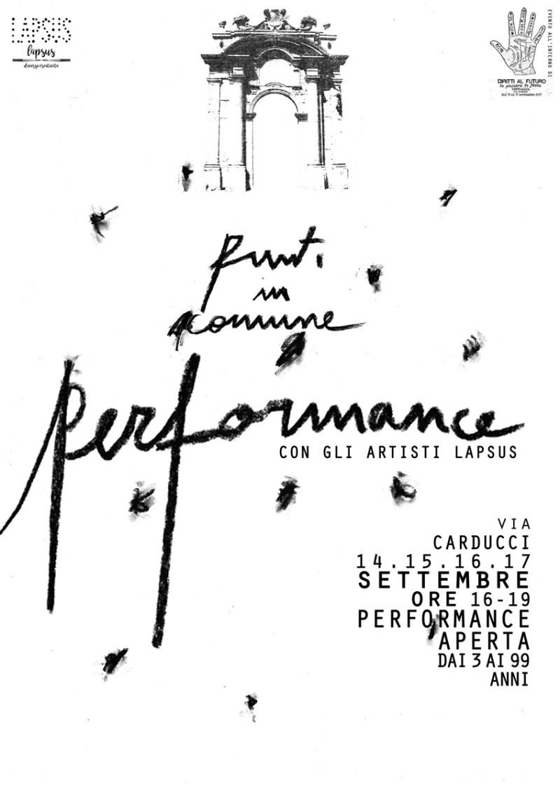 """SENIGALLIA / """"Punti in comune"""", in via Carducci performance con gli artisti Lapsus"""