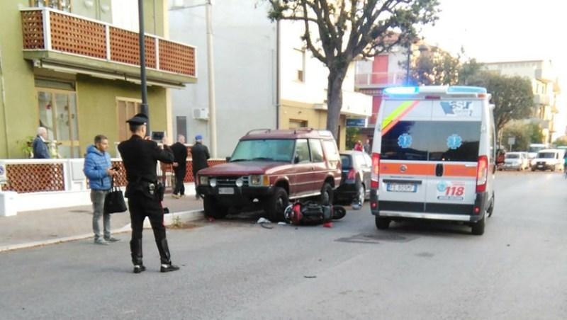 Travolta da un'auto alla Cesanella, una donna trasportata con l'eliambulanza all'ospedale di Torrette