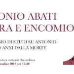In Biblioteca la poesia del senigalliese Antonio Abati