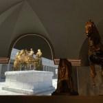 Storia e tecnologia: aperta a Pergola la nuova sala immersiva dei Bronzi dorati firmata Paco Lanciano e voluta dal sindaco Baldelli