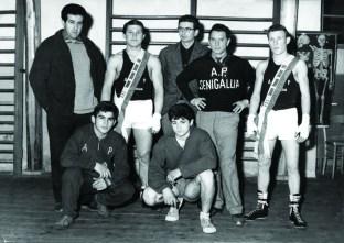 1963 Corrado Buffarini, Giorgio Mancinelli,Silverio Gresta, Leonello Mazzanti, Sergio Mencarelli, Fulvio Giacomini, Leonardo Bigelli st