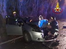 SENIGALLIA incidente provinciale corinaldese borgo catena tre feriti vdf2020-01-18 (2)