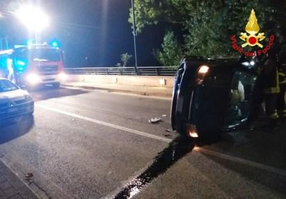 SASSOFERRATO incidente auto notte vdf2020-08-11 (1)