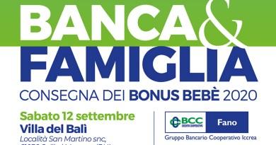 La Bcc Fano investe sulla famiglia e premia i neo genitori