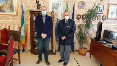 MONTEMARCIANO sindaco e Cipriano comandante Polstrada2021-03-20