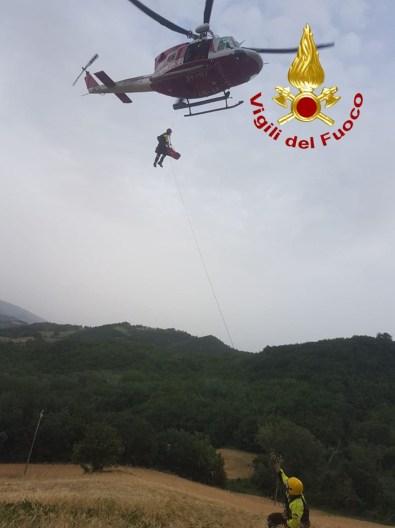 URBINO motociclista scarpata soccorso ospedale Torrette2021-06-20 (1)