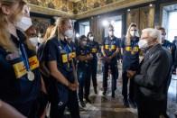 ROMA nazionali pallavolo ricevute Quirinale Mattarella2021-09-27 (16)