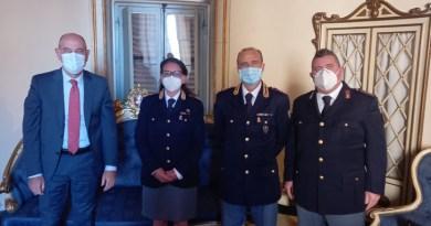 La nuova dirigente della Polizia stradale Monica Grazioso ricevuta dal sindaco di Jesi