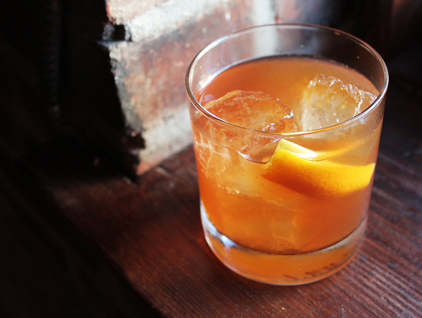 Ava Gardner: Toasted hazelnut-infused bourbon, Benedictine, honey, bitters