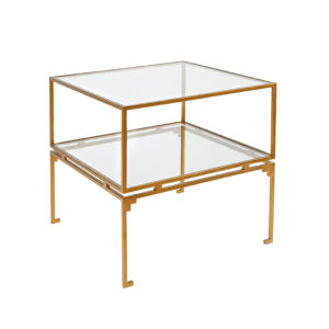 Florence Side Table Square Gold