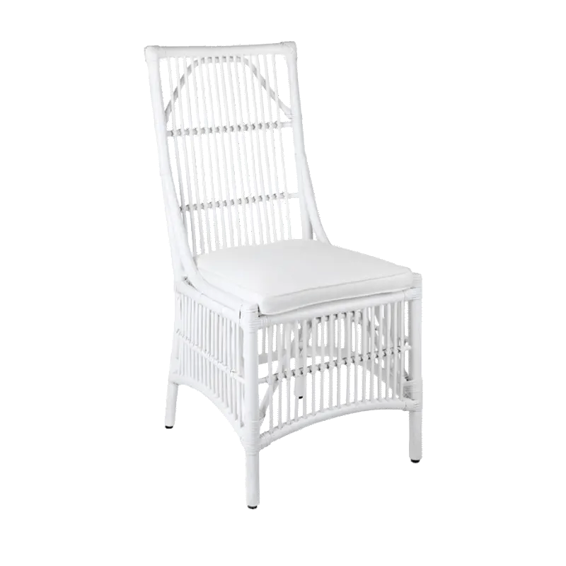 Orient Bay White Cane Dining Chair