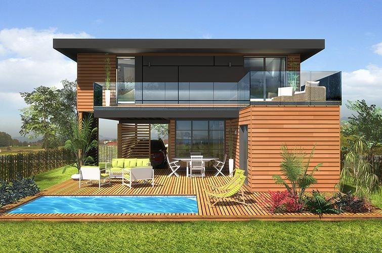 Maison Modulaire Moderne Bois 65 M Construction Modulaire