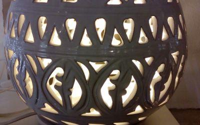 Lampada sfera bianca