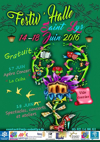 Affiche Festiv'Halle 2016 - MJC de St Lys
