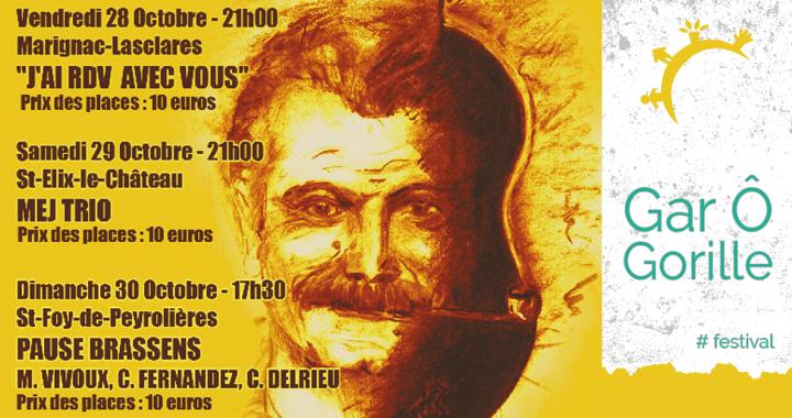 Festival Gar Ô Gorille - 28, 29 & 30 octobre 2016