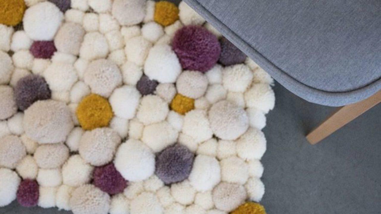 faire un tapis en pompons diy la