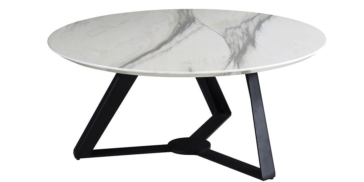 table basse orkid effet marbre