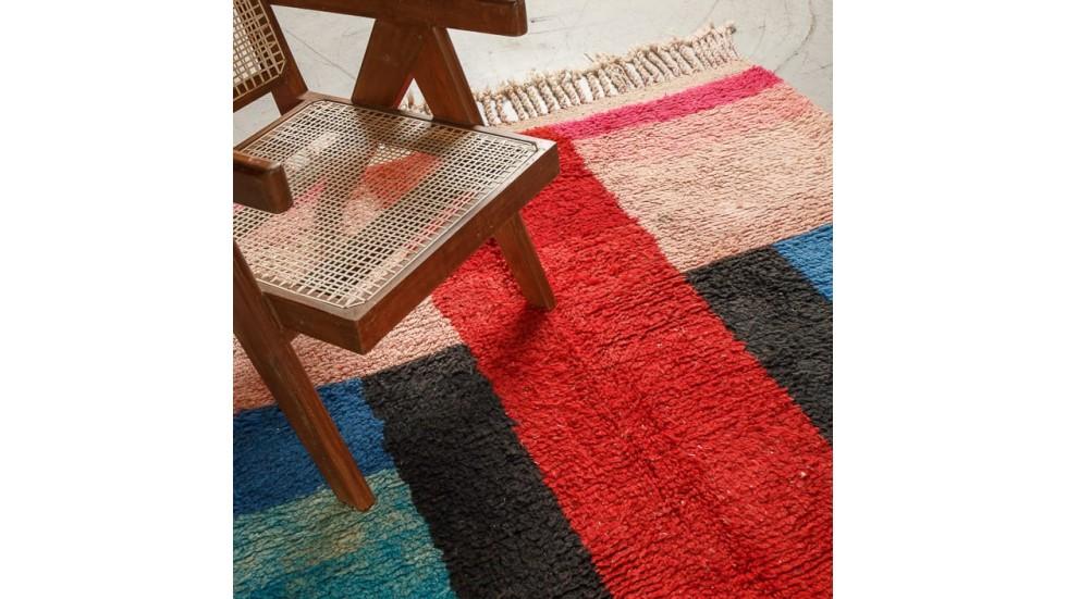 tapis berbere boujad en laine piece unique 165 x 250 cm