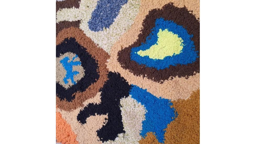 tapis zendack laine et coton noue main 27 76 x 44 cm