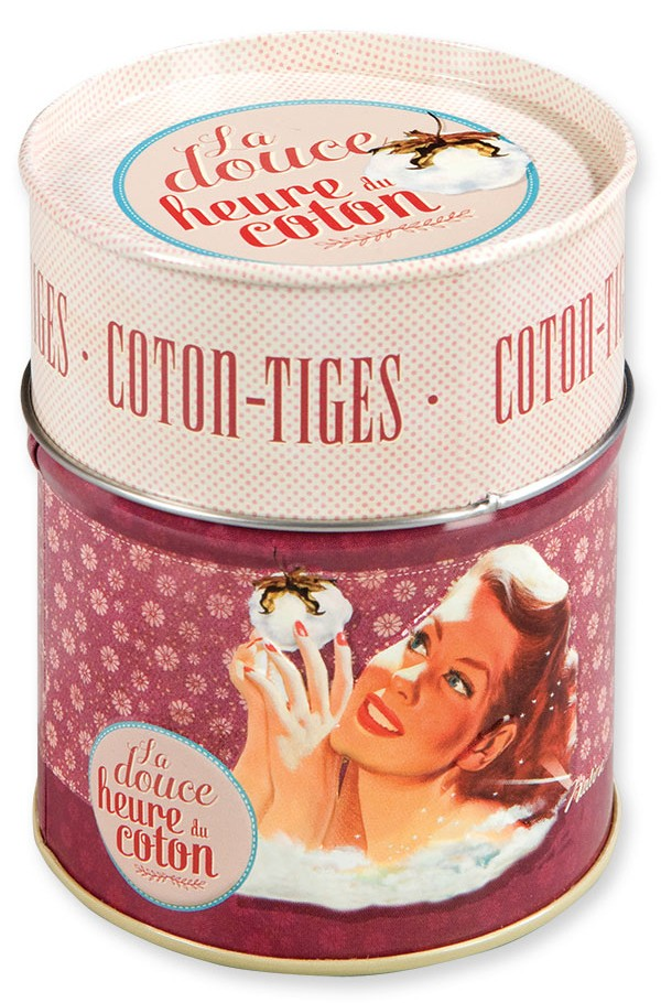 Boite A Cotons Tiges La Douce Heure Du Coton Lamaisonneedines Fr
