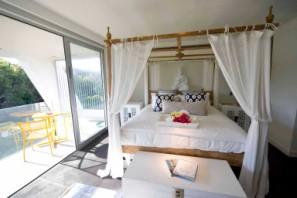Main bed and balcony
