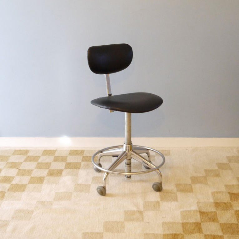 Chaise Bureau Vintage Industrielle Roulettes La Maison Retro