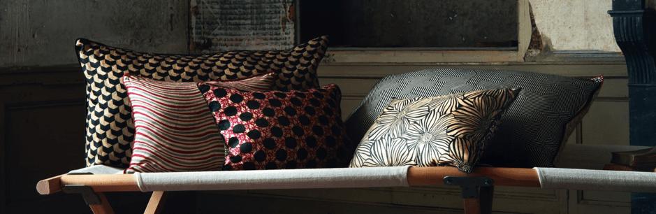 Coussins en soie