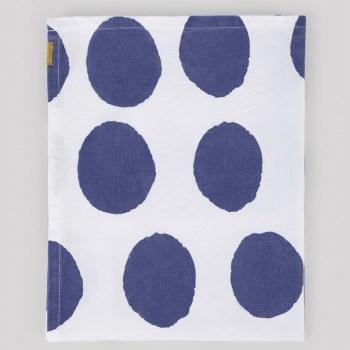 Torchon en coton pois bleus