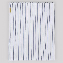 Torchon coton à rayures bleues