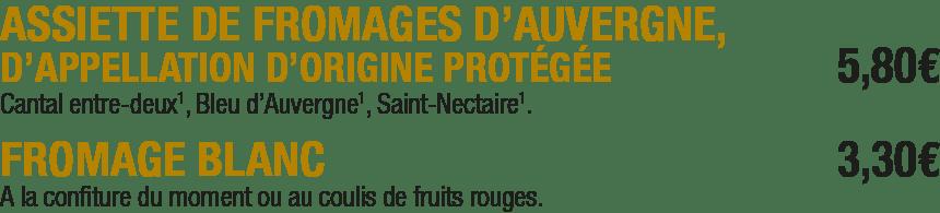Les fromages de La Mangoune