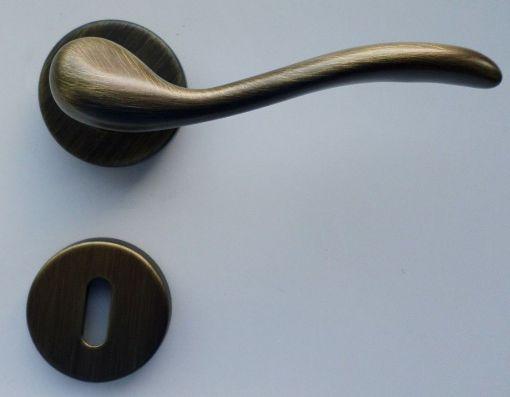 Maniglie Classiche bronzo spazzolato opaco setato Crema
