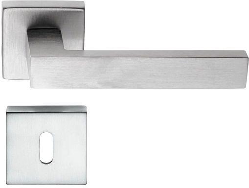 Maniglie (coppia) Quadra50mm x 50mm cromo satinato moderna squadrata