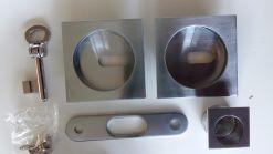 maniglie per porta scorrevole cromo satinato chiave e serratura