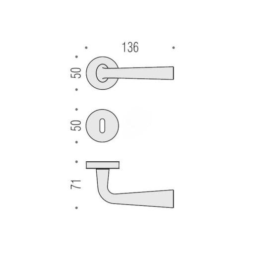 Colombo Design - Maniglia Per Porta - Tender MG11R