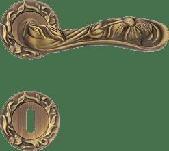 Maniglia Arte Linea Calì, lineacalì su rosetta bocchetta 113 patinè