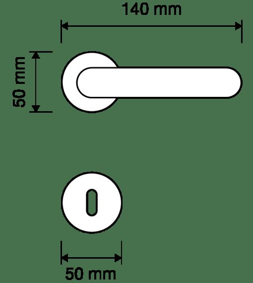 Maniglia Aldar Linea Calì, lineacalì su rosetta bocchetta 103 (tonda)