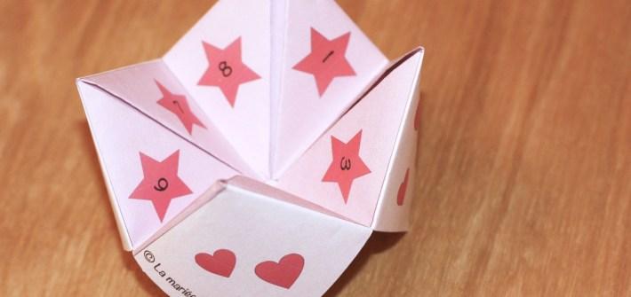 love cocotte saint valentin pliée