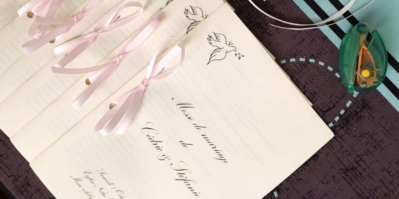 Livret de messe , Conseils et modèle ⋆ La mariée hiboudeuse