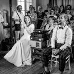 Animation de mariage projection avec les mariés