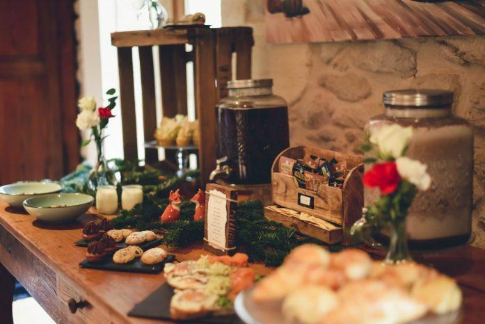 Repas du brunch du lendemain du mariage hivernal by Mood cupcake factory