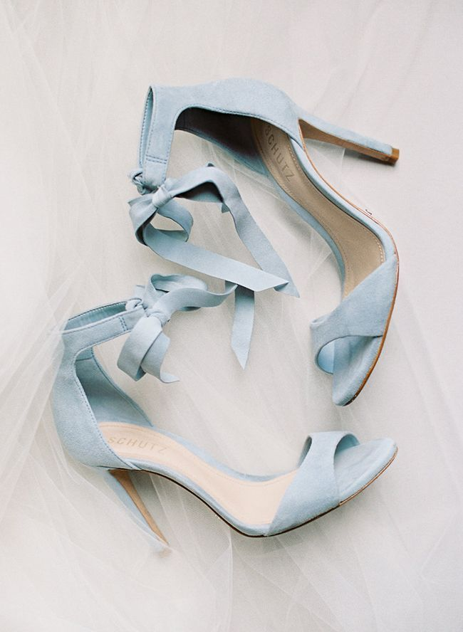 Chaussures de mariage bleues