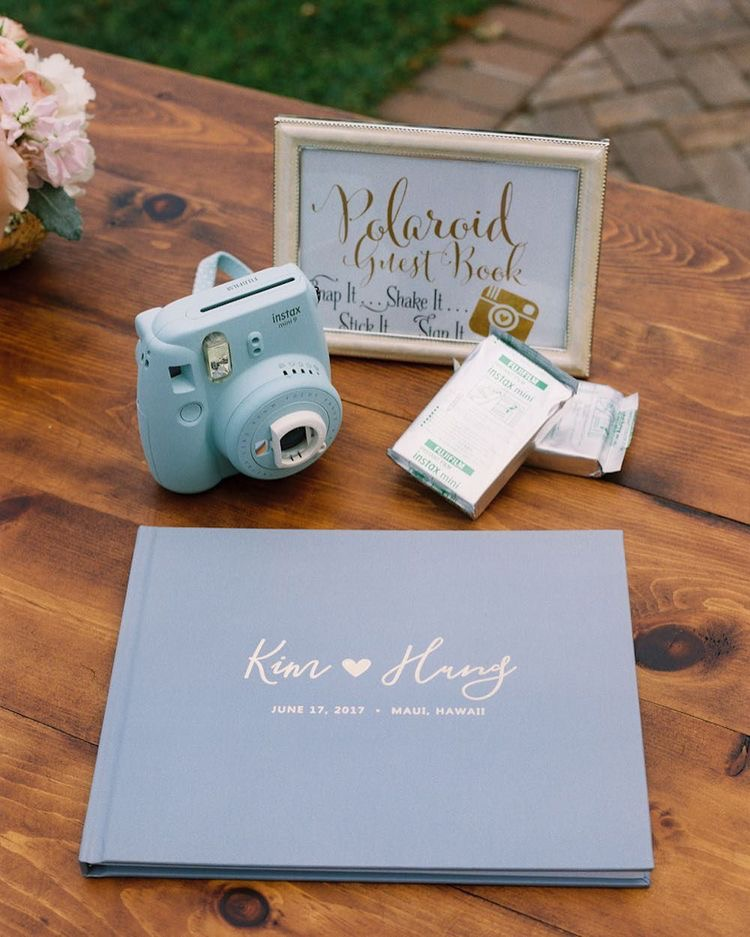 Livre d'or de mariage bleu