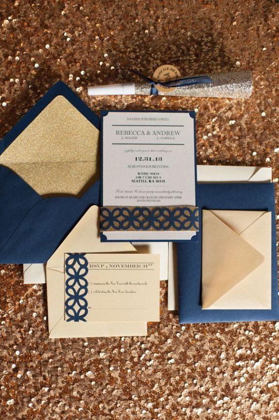 Inspirations pour un mariage doré | Détails Carterie Papeterie Dorée| présenté par La Mariée Sous Les Etoiles
