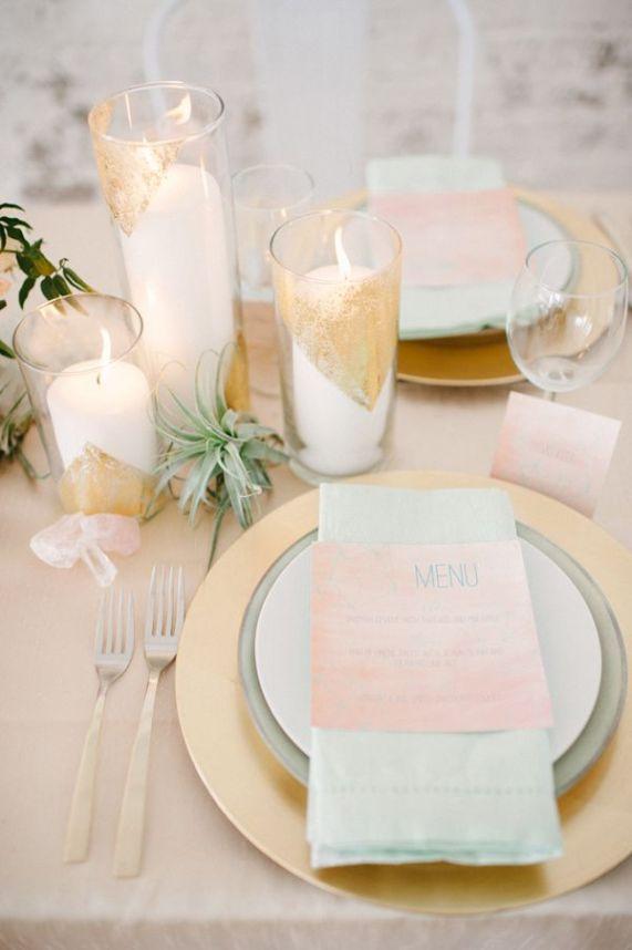 Inspirations pour un mariage doré | Détails Mise en place dorée | présenté par La Mariée Sous Les Etoiles