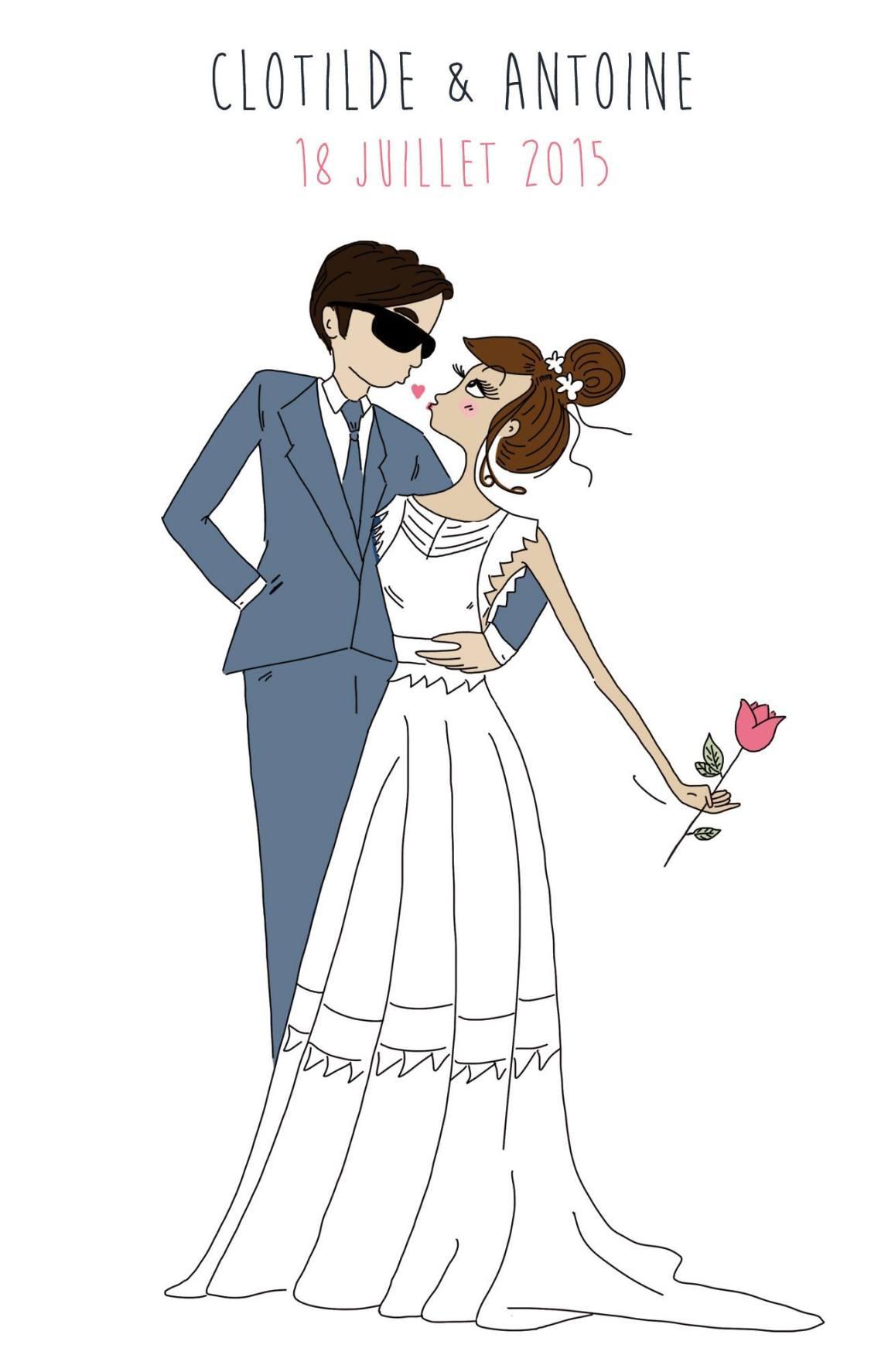 Faire-part mariage de Marie-Antoinette par Clotilde Calvayrac | Clotilde & Antoine | Blog Mariage | La Mariée Sous Les Etoiles