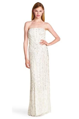 Robe de mariée Adrianna Papell, modèle Alya, Boutique Plume Paris